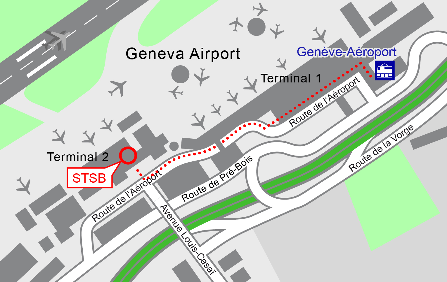 Address and location map Swiss Transportation Safety Investigation